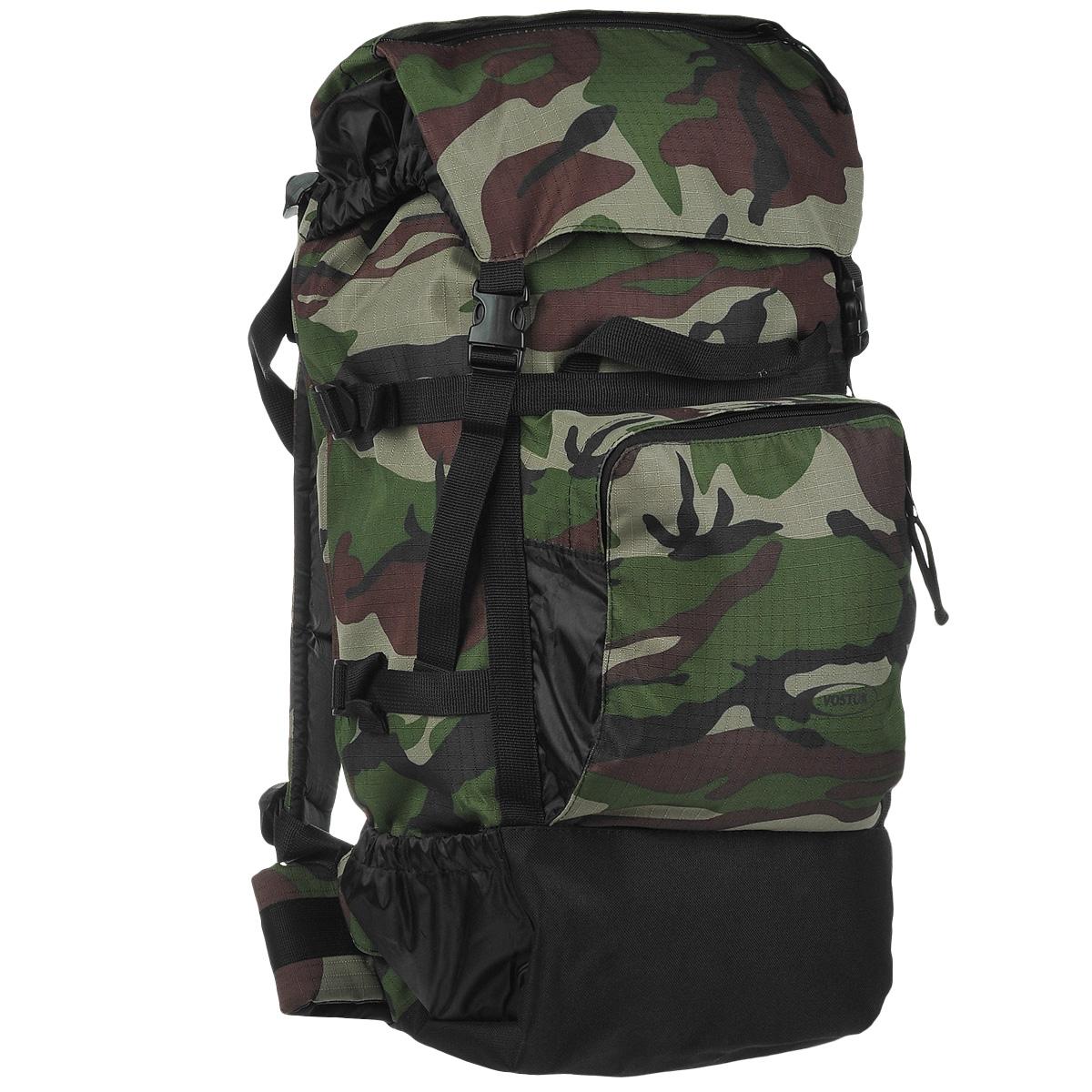 Рюкзак Huntsman  Кодар , цвет: камуфляж, 40 л - Туристические рюкзаки