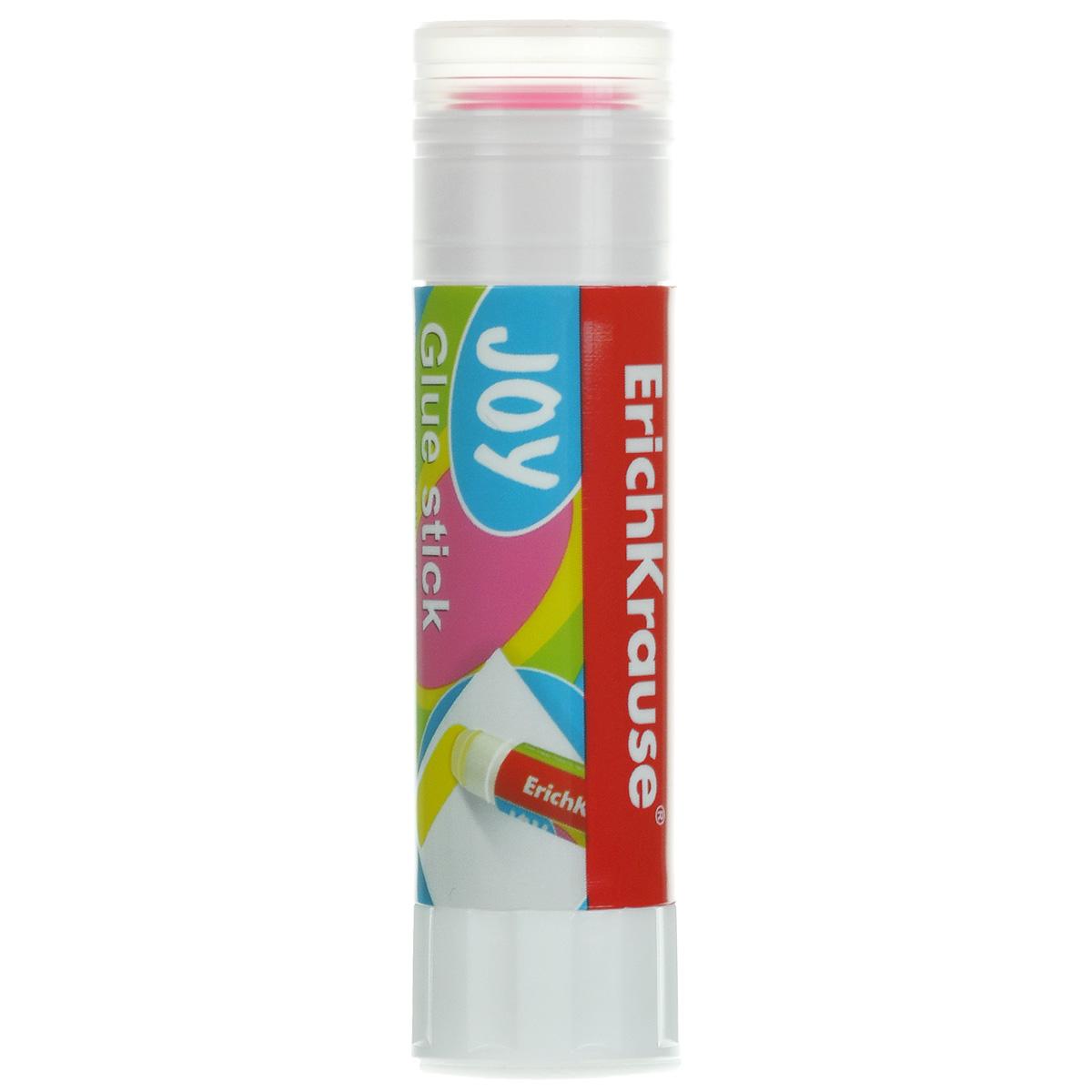 Клей-карандаш Erich Krause Joy, цвет: розовый, 15 гFS-54100Цветной клей-карандаш Erich Krause Joy идеально подходит для склеивания бумаги, картона и фотографий. Выкручивающийся механизм обеспечивает постепенное выдвижение клеевого стержня из пластикового корпуса. При нанесении оставляет цветной след, обеспечивающий более аккуратное наклеивание.Клей-карандаш не деформирует бумагу, быстро сохнет и не оставляет следов после высыхания. Не токсичен.Рекомендовано детям старше трех лет.