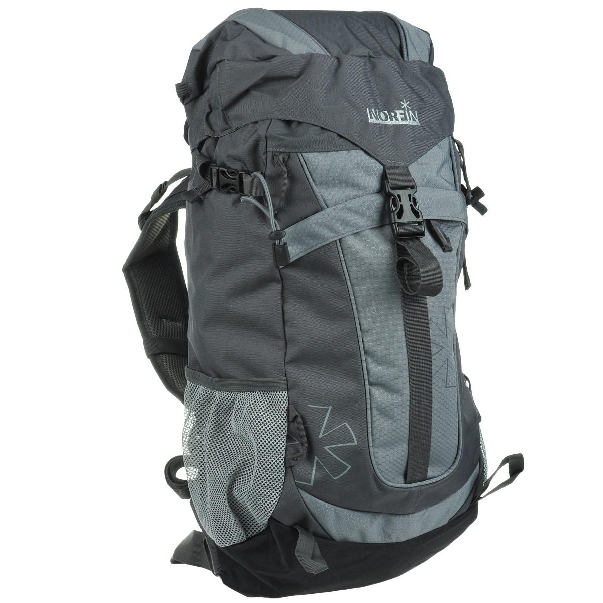 Рюкзак городской Norfin 4Rest, цвет: серый, 35 лГризлиВысококачественный, надежный, и прочный рюкзак Norfin 4Rest. Благодаря многофункциональности данный рюкзак позволяет удобно и легко укладывать свои вещи.Особенности рюкзака:Имеет три рабочие зоны с сеткой Air Mesh, хорошо отводится избыточное тепло и влага при нагрузкахПоясной ременьГрудная стяжка со свисткомВыход под питьевую системуФронтальный карманБоковые карманы из сеткиВерхний клапан с внешним карманом.