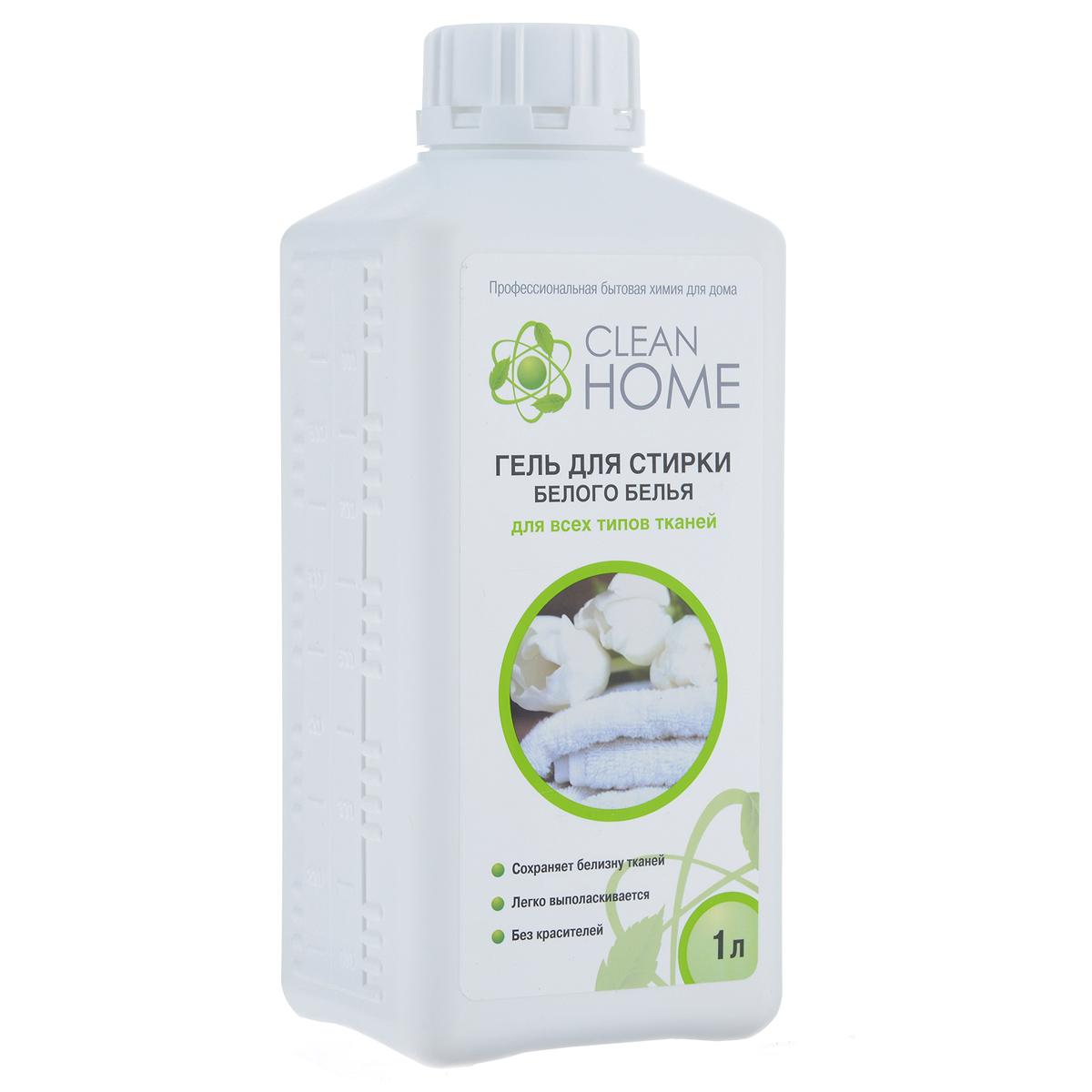 Гель для стирки белого белья Clean Home, для всех типов тканей, 1 лGC204/30Деликатное средство Clean Home предназначено для стирки всех типов белых тканей в воде любой жесткости для ручной и машинной стирки. - Обладает высокой моющей способностью- Эффективно удаляет пятна и загрязнения- Сохраняет структуру тканей- Препятствует образованию серого оттенка и желтизны- Легко выполаскивается. Не содержит красителей и хлора. Линия профессиональной бытовой химии для дома Clean Home представлена гаммой средств для стирки и уборки дома. Clean Home - это весь необходимый ряд высокоэффективных универсальных средств европейского качества.Состав: вода, 5-15% АПАВ, менее 5% НПАВ, менее 5% фосфаты, мыло, оптический отбеливатель, полимер, функциональные добавки, метилхлороизотиазолинон, метилизотиазолинон, отдушка.