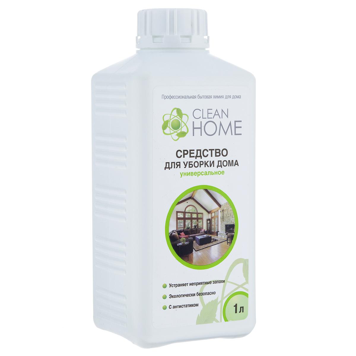 Средство Clean Home, для уборки дома, универсальное, 1 л68/5/3Универсальное средство Clean Home поможет справится с любыми загрязнениями на кухне и в доме. Идеально очистит любые поверхности, которые можно мыть: бытовую технику, мебель, окна и полы. Формула с безопасными компонентами, не повреждающими поверхность, позволяет без труда справится с ежедневными загрязнениями, придавая вашему дому аромат альпийских трав. С эффектом антистатика.Устраняет неприятные запахи, не оставляет разводов. Линия профессиональной бытовой химии для дома Clean Home представлена гаммой средств для стирки и уборки дома. Clean Home - это весь необходимый ряд высокоэффективных универсальных средств европейского качества.Состав: вода, менее 5% АПАВ, менее 5% НПАВ, менее 5% пероксид водорода, комплексообразователь, антистатик, функциональные добавки, отдушка.