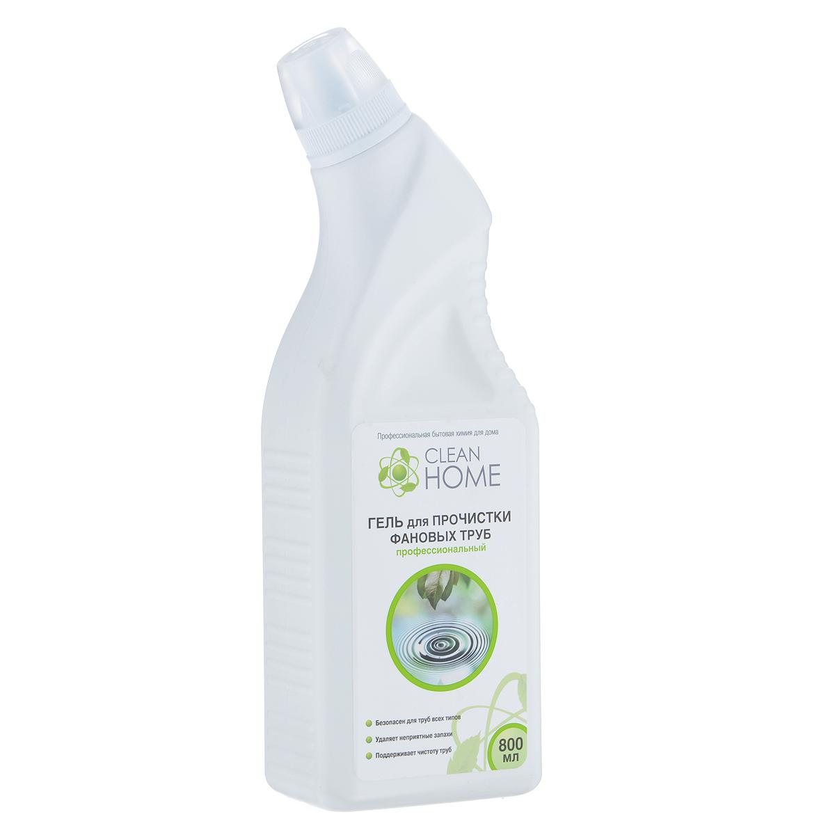 ГельClean Home, для прочистки фановых труб, 800 мл391602Эффективное средство Clean Home предназначено для удаления засоров в канализационных трубах, сифонах, унитазах от органических загрязнений, пищевых остатков, жира, волос и бумаги. Удаляет неприятные запахи. Благодаря гелевой форме глубоко проникает в трубу даже при наличии в ней воды. Безопасен для всех видов металлических и пластиковых труб, позволяет продлить срок безотказной работы бытового сантехнического оборудования. Линия профессиональной бытовой химии для дома Clean Home представлена гаммой средств для стирки и уборки дома. Clean Home - это весь необходимый ряд высокоэффективных универсальных средств европейского качества.Состав: вода, гидроксид натрия, функциональные добавки.