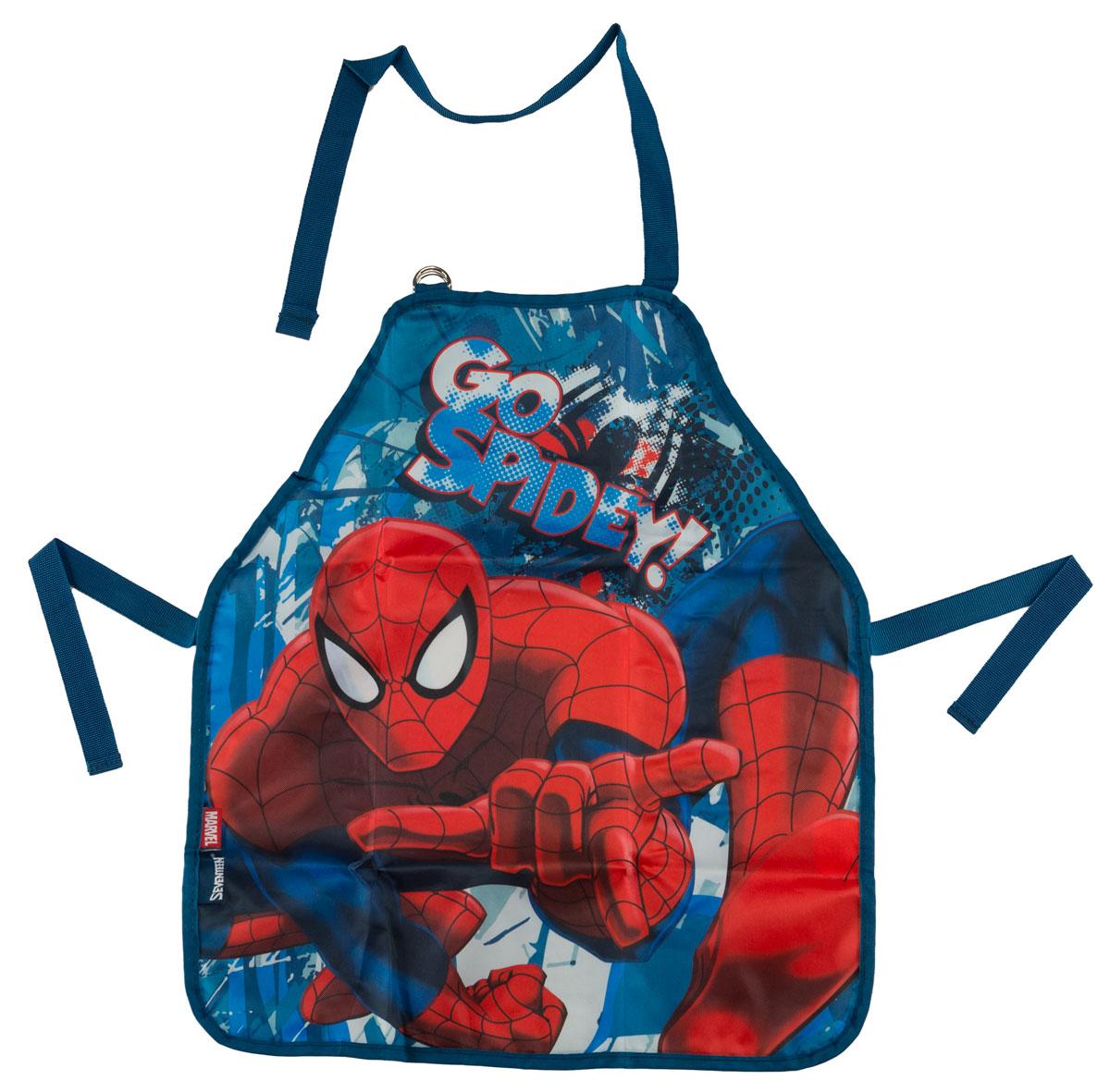 Фартук для детского творчества Spider-Man Classic, цвет: синий. SMCB-MT1-029M35041Фартук для детского творчества Spider-Man Classic поможет малышу не испачкаться во время домашних хлопот, на уроках труда или изобразительного искусства. Благодаря удобному покрою фартука, ребенок может его самостоятельно надевать и снимать. Лямка на шее регулируется по длине с помощью пряжки. Завязки позволяют зафиксировать фартук на талии. Изделие изготовлено из водонепроницаемого материала, легко стирается, поэтому изделие будет служить очень долго.