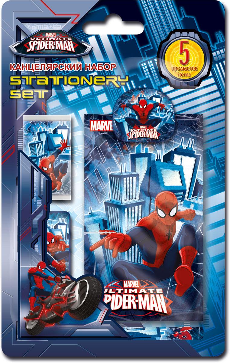 Набор канцелярский Spider-man Classic, 5 предметов. SMCB-US1-3808-BL572523WDНабор канцелярских принадлежностей Spider-man Classic станет незаменимым аксессуаром для школьника. В набор входит: мини-карандаш, блокнот, клип, ластик обернутый бумагой, точилка.Предметы набора оформлены изображением любимого героя фильма Человек-паук. Канцелярские принадлежности оригинального дизайна поднимут настроение и станут оригинальным сувениром.