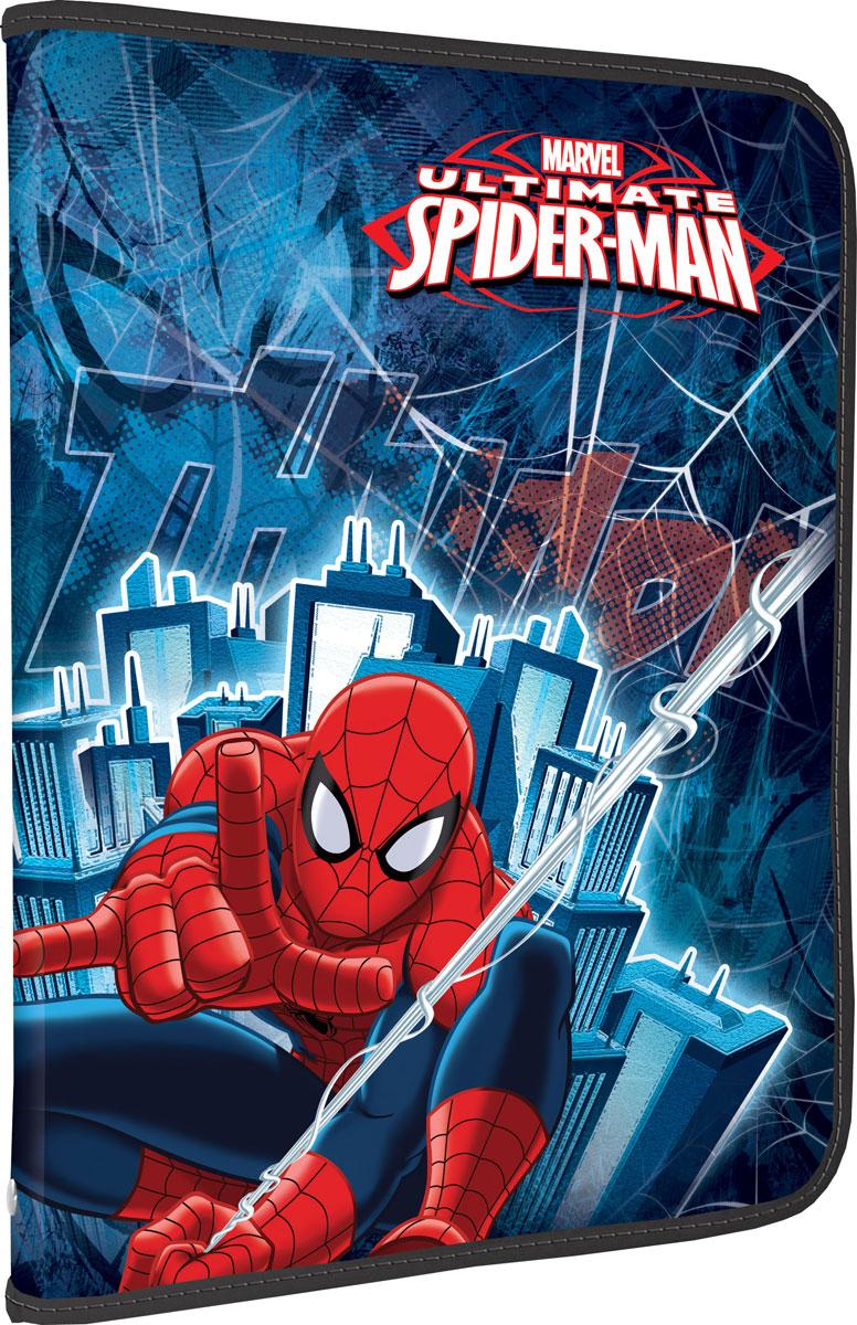 Папка для труда Spider-Man, цвет: синий, красный. Формат А4SMCB-US1-PTRA4Папка для труда Spider-Man предназначена для хранения тетрадей, рисунков и прочих бумаг формата А4, а также ручек, карандашей, ластиков и точилок. Внутри находится одно большое отделение с дополнительным вкладышем, содержащим фиксаторы для школьных принадлежностей и фиксатор для тетрадей. Папка выполнена из прочного полипропилена и оформлена ярким изображением Человека-Паука, героя одноименного комикса. Надежная круговая застежка-молния обеспечивает максимальный комфорт в использовании изделия, позволяя быстро открыть и закрыть папку.