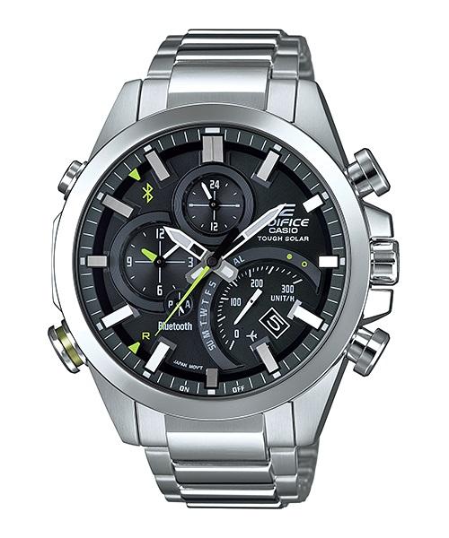 Часы мужские наручные Casio, цвет: стальной, черный. EQB-500D-1A23008Стильные мужские часы Casio EDIFICE выполнены из нержавеющей стали и минерального стекла. Изделие оформлено символикой бренда. В часах предусмотрен аналоговый отсчет времени.Часы оснащены Bluetooth и функцией Mobile Link, которая позволяет синхронизировать часы с смартфоном для автоматической корректировки времени. Функция секундомера позволит замерять прошедшее время в пределах тысячи часовс точностью 1/100 секунды, предусмотрен будильник. Степень влагозащиты 20 atm. Изделие дополнено стальным браслетом, который застегивается замок-клипсу, позволяющий максимально комфортно и быстро снимать и одевать часы.Часы поставляются в фирменной упаковке.Многофункциональные часы Casio EDIFICE подчеркнут мужской характер и отменное чувство стиля у их обладателя.