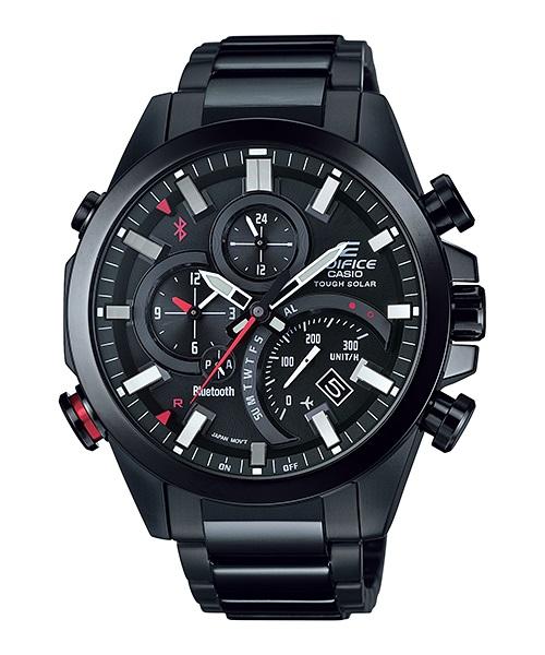 Часы мужские наручные Casio, цвет: черный, красный. EQB-500DC-1AEQW-M710DB-1A1Стильные мужские часы Casio EDIFICE выполнены из нержавеющей стали и минерального стекла. Изделие оформлено символикой бренда. В часах предусмотрен аналоговый отсчет времени.Часы оснащены Bluetooth и функцией Mobile Link, которая позволяет синхронизировать часы с смартфоном для автоматической корректировки времени. Функция секундомера позволит замерять прошедшее время в пределах тысячи часовс точностью 1/100 секунды, предусмотрен будильник. Степень влагозащиты 20 atm. Изделие дополнено стальным браслетом, который застегивается замок-клипсу, позволяющий максимально комфортно и быстро снимать и одевать часы.Часы поставляются в фирменной упаковке.Многофункциональные часы Casio EDIFICE подчеркнут мужской характер и отменное чувство стиля у их обладателя.