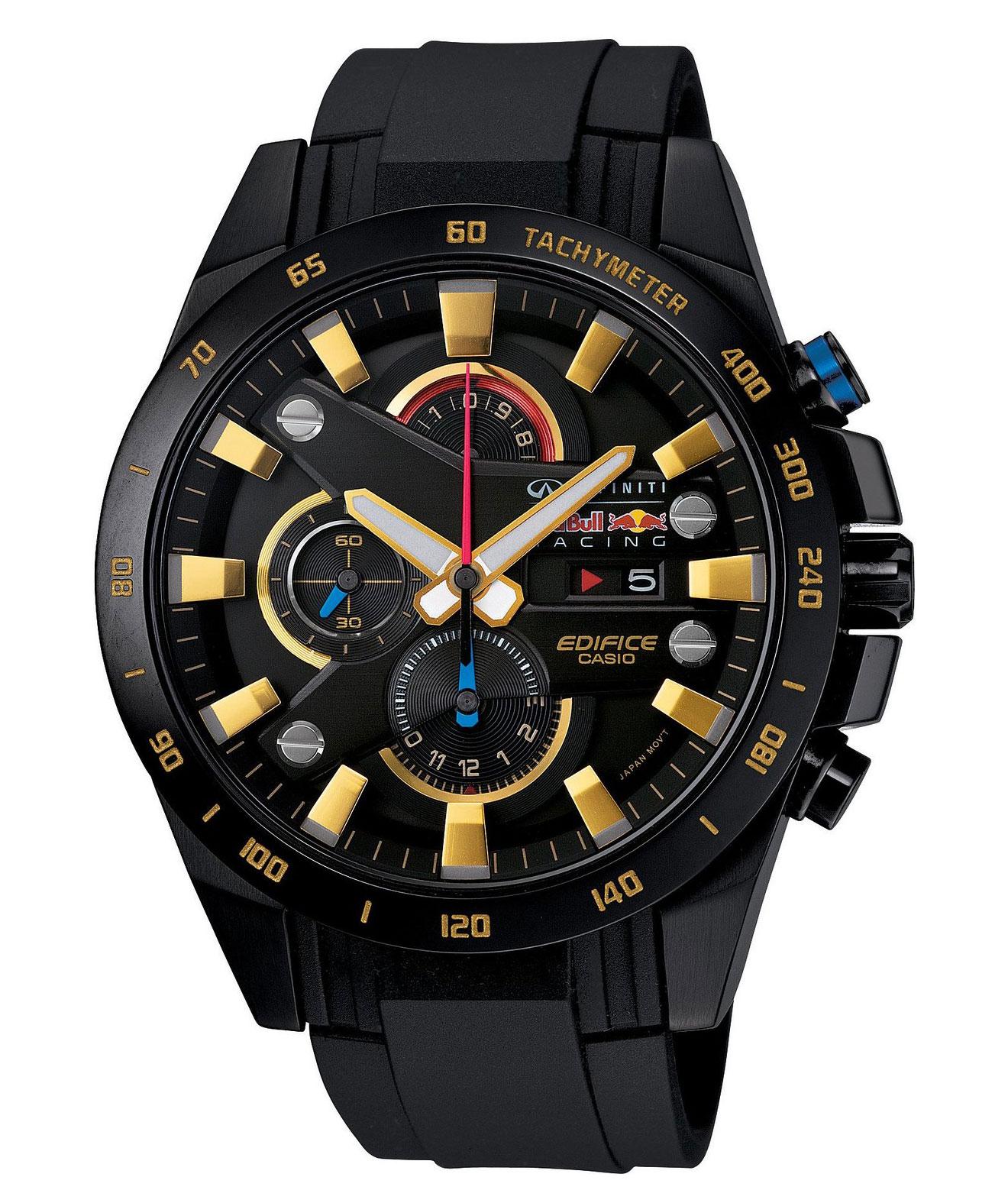 Часы мужские наручные Casio, цвет: черный, золотистый. EFR-540RBP-1ABM8241-01EEСтильные мужские часы Casio EDIFICE выполнены из нержавеющей стали и минерального стекла. Изделие оформлено символикой бренда. В часах предусмотрен аналоговый отсчет времени.Функция мирового временипозволяет мгновенно выяснять текущее время в любой точке земного шара. Функция секундомера позволит замерять прошедшее время в пределах тысячи часовс точностью 1/100 секунды, предусмотрен будильник. Степень влагозащиты 10 atm. Изделие дополнено ремешком из полимерного материала, который обладает антибактериальными и запахоустойчивыми свойствами. Ремешок застегивается на пряжку, позволяющую максимально комфортно и быстро снимать и одевать часы.Часы поставляются в фирменной упаковке.Многофункциональные часы Casio EDIFICE подчеркнут мужской характер и отменное чувство стиля у их обладателя.
