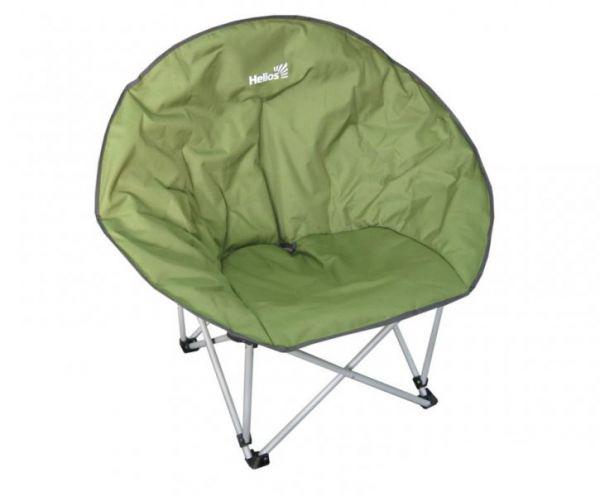 Кресло складное Helios, цвет: зеленый, 42 см х 44 см х 87 смNF-20210Складное круглое кресло Helios с удобным широким сиденьем - незаменимый предмет для отдыха на природе, на рыбалке или на даче. Кресло имеет прочный металлический каркас с порошковым покрытием, легко собирается и разбирается. В сложенном виде кресло удобно для хранения и переноски.В комплекте чехол для хранения и переноски.