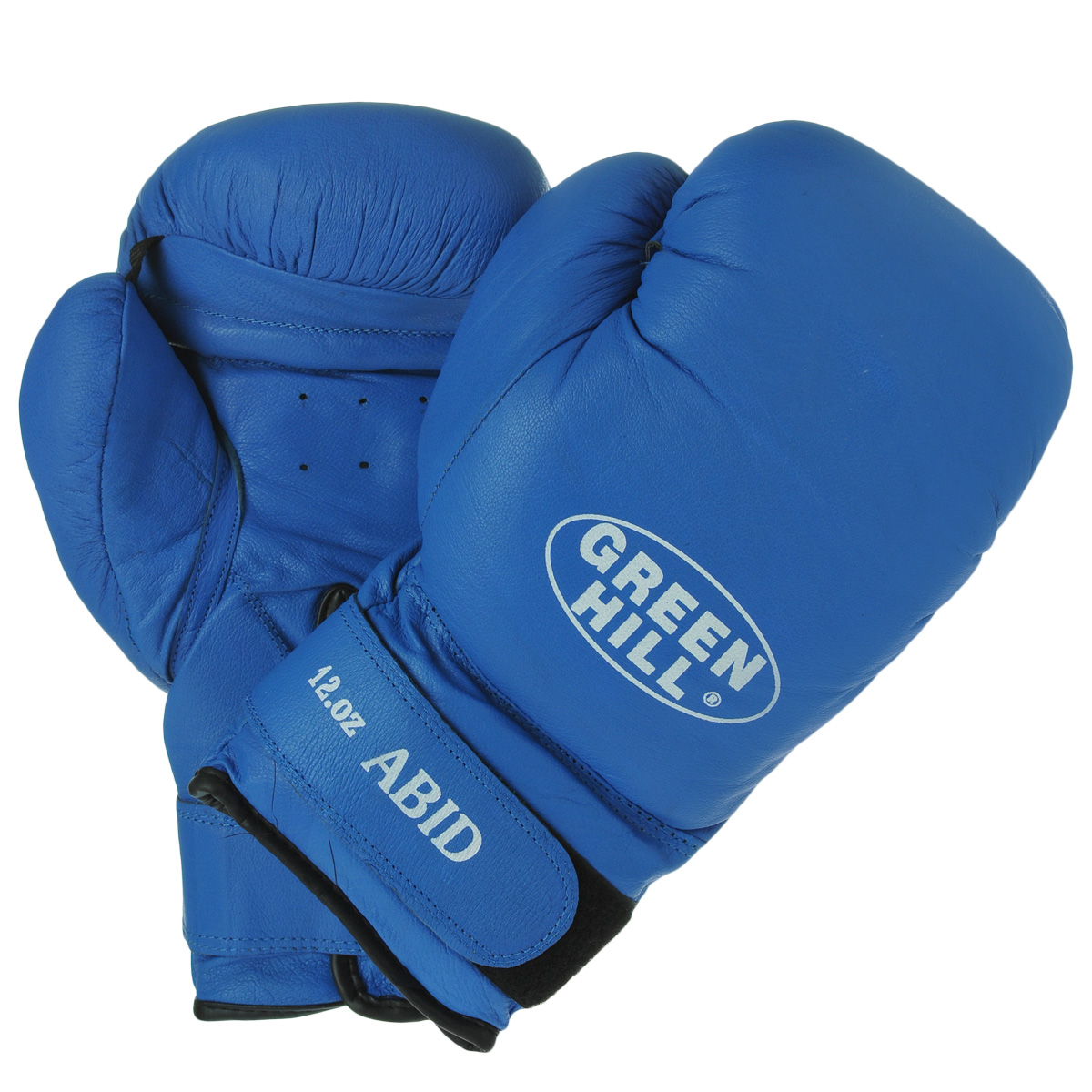 Перчатки боксерские Green Hill Abid, цвет: синий. Вес 12 унций перчатки боксерские green hill abid цвет синий белый вес 16 унций