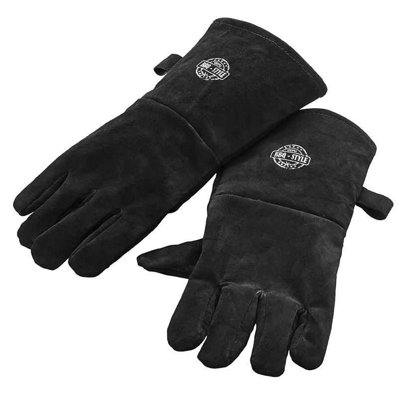 Перчатки для гриля Gefu, цвет: черный. 89246VT-1520(SR)Перчатки для гриляGefu изготовлены из высококачественной замши, которая обеспечивает защиту и надежное удержание даже скользких поверхностей.Такие перчатки станутидеальным подарком для мужчин!