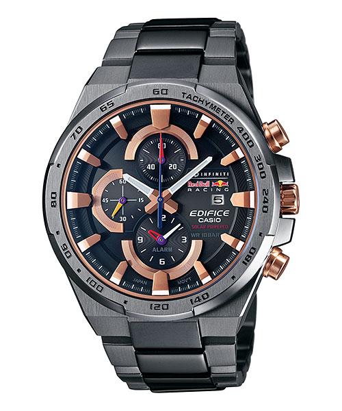 Часы мужские наручные Casio, цвет: мокрый асфальт, розовое золото. EFR-541SBRB-1A23008Стильные мужские часы Casio EDIFICE выполнены из нержавеющей стали и минерального стекла. Изделие оформлено символикой бренда. В часах предусмотрен аналоговый отсчет времени.Функция мирового временипозволяет мгновенно выяснять текущее время в любой точке земного шара. Функция секундомера позволит замерять прошедшее время в пределах тысячи часовс точностью 1/100 секунды, предусмотрен будильник. Степень влагозащиты 10 atm. Изделие дополнено стальным браслетом, который застегивается замок-клипсу, позволяющий максимально комфортно и быстро снимать и одевать часы.Часы поставляются в фирменной упаковке.Многофункциональные часы Casio EDIFICE подчеркнут мужской характер и отменное чувство стиля у их обладателя.