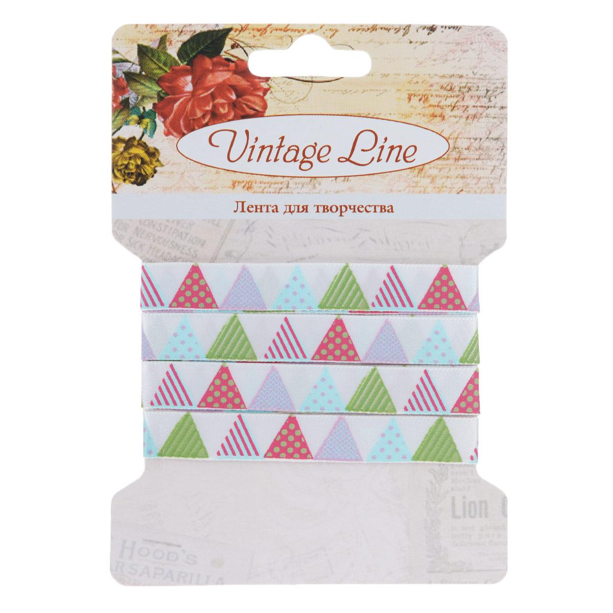 Лента декоративная Vintage Line Треугольники, 1 х 100 см 7709299C0042416Декоративная лента Vintage Line Треугольники представляет собой атласную ленту, декорированную небольшими разноцветными треугольниками. Такая лента идеально подойдет для оформления различных творческих работ таких, как скрапбукинг, аппликация, декор коробок и открыток и многое другое.Лента наивысшего качества практична в использовании. Она станет незаменимым элементом в создании рукотворного шедевра. Ширина: 1 см.Длина: 1 м.