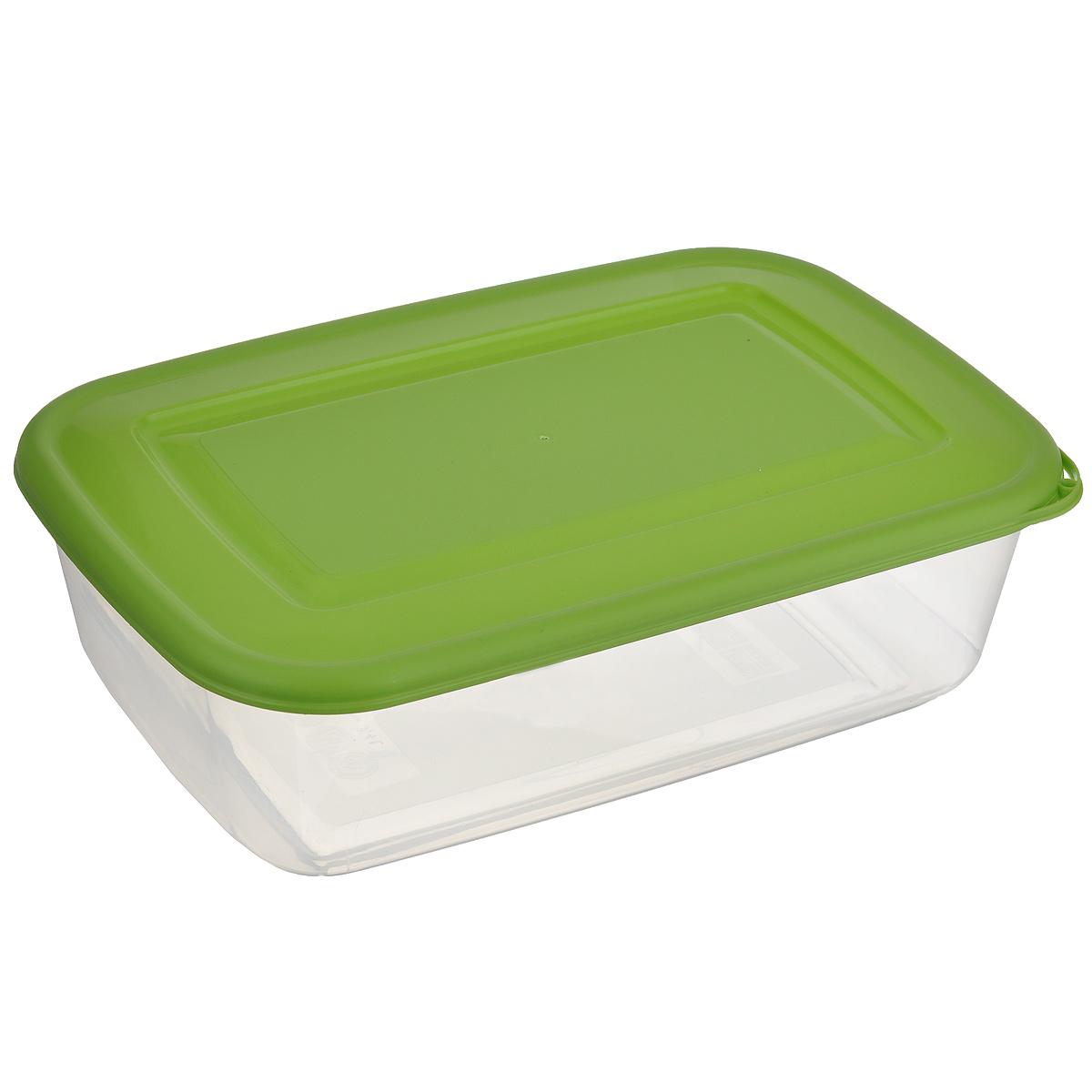 Контейнер Бытпласт, цвет: прозрачный, зеленый, 3,4 лАксион Т-33Контейнер Бытпласт, изготовленный из пищевого пластика, предназначен специально для хранения пищевых продуктов. Крышка легко открывается и плотно закрывается.Контейнер устойчив к воздействию масел и жиров, легко моется. Прозрачные стенки позволяют видеть содержимое. Можно использовать в микроволновой печи только для разогрева пищи и без крышки, подходит для хранения пищи в холодильнике. Можно мыть в посудомоечной машине.