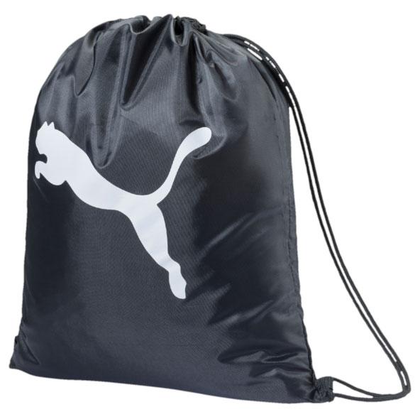 Сумка Puma Pro Training Backpack, цвет: черный, белый07294201Сумку Puma Pro Training Backpack удобно использовать как для хранения, так и для переноски сменной обуви, одежды. Сумка выполнена из прочного полиэстера и оформлена логотипом фирмы Puma. Сумка затягивается сверху при помощи текстильных шнурков. Шнурки фиксируются в нижней части сумки, благодаря чему ее можно носить за спиной как рюкзак.