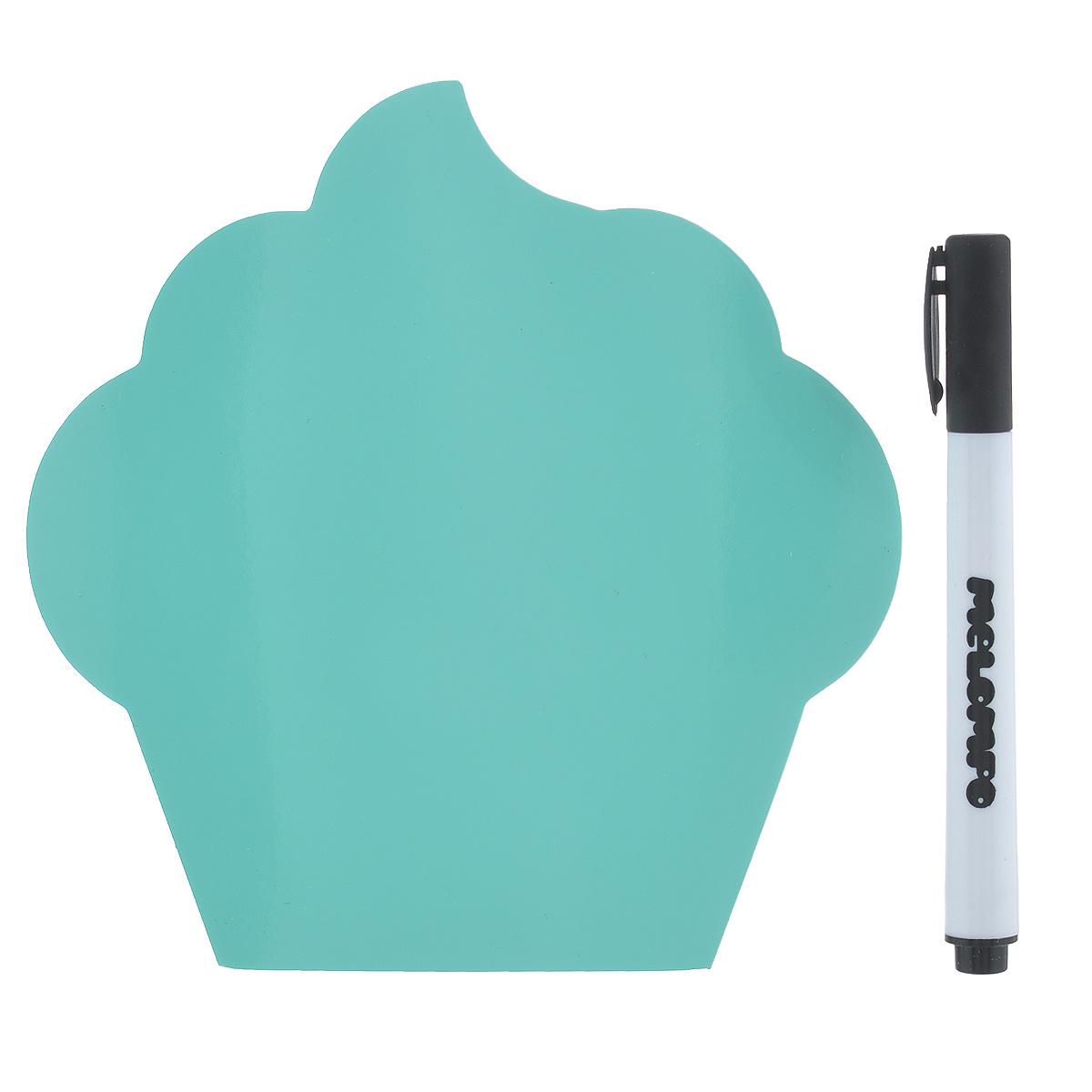 Памятка маркерная Melompo Кекс, 12 см х 12 см2010440Магнитная доска на холодильник Melompo Кекс - оригинальная вещь для ежедневных посланий родным и близким. Доска выполнена в виде кекса.В комплект входят:Памятка - легко примагничивается и просто снимается.Маркер - прекрасно пишет и также хорошо стирается.Держатель - позволит примагнитить памятку к неметаллической поверхности.