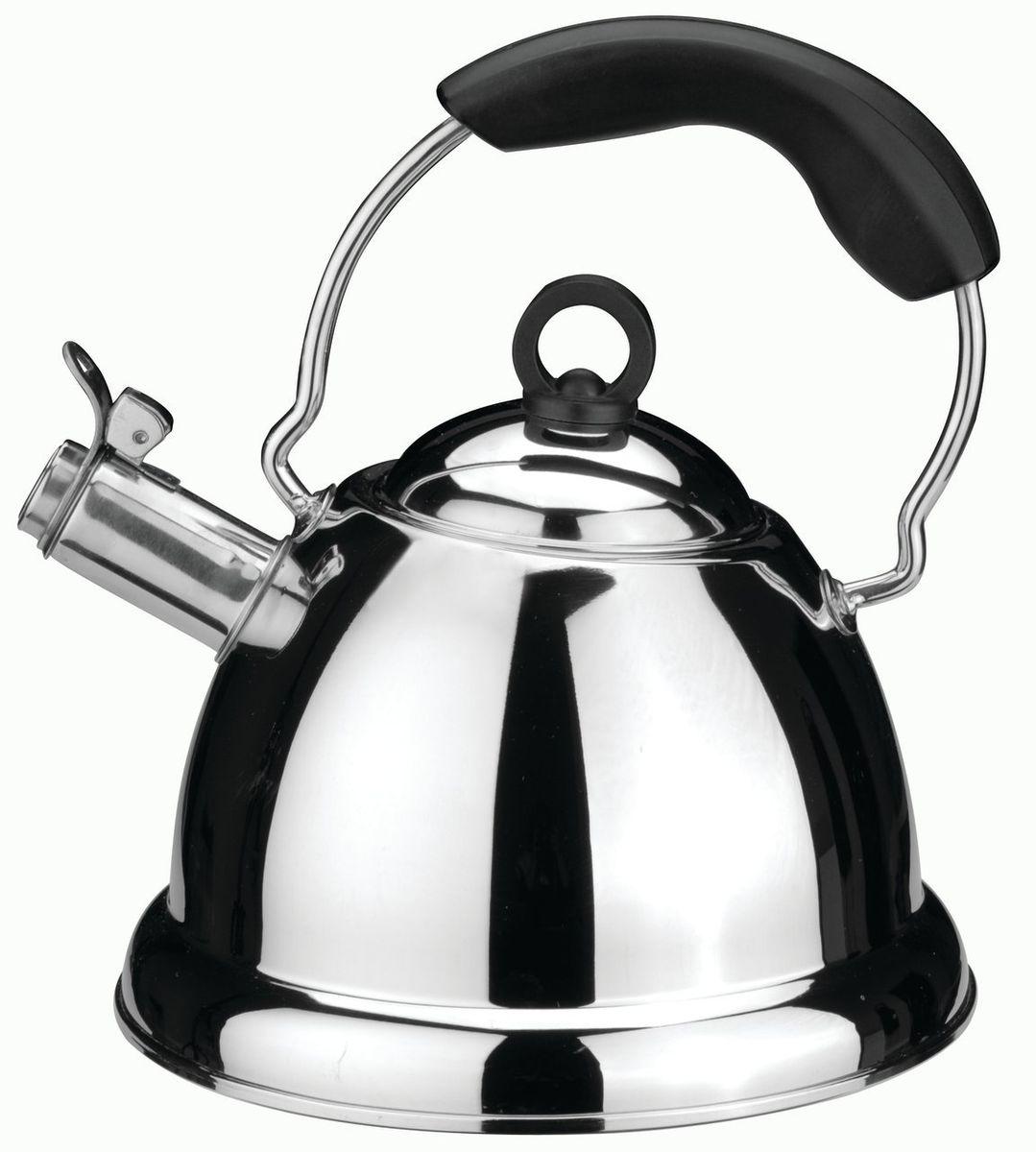 Чайник со свистком BergHOFF Cook&Co Presto, цвет: металлик-черный, 2,5 л68/5/3Чайник со свистком BergHOFF Cook&Co Presto - выполнен из нержавеющей стали. Высокоэффективный чайник продуктивно проводит тепло для быстрого закипания. Свисток сообщает о моменте закипания воды. Рекомендуется мыть вручную. Упакован в подарочную коробку. Нержавеющая сталь
