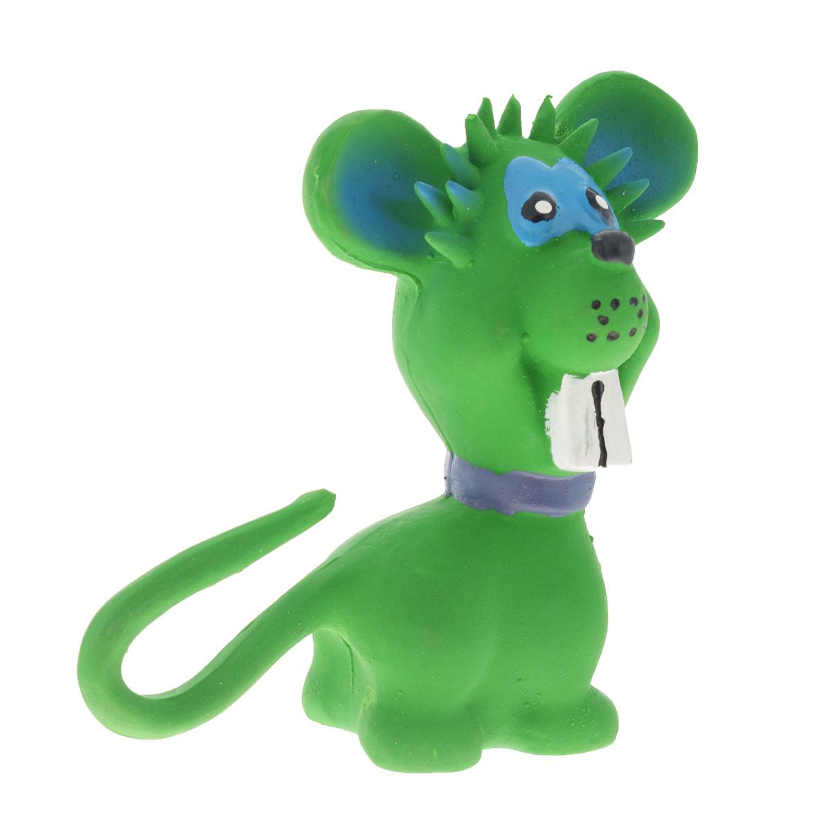 Игрушка для собак V.I.Pet Мышь, цвет: зеленый0120710Прочная игрушка V.I.Pet Мышь с пищалкой изготовлена из натурального латекса сиспользованием только безопасных, не токсичных красителей. Великолепно подходит для игры и массажа десен вашей собаки. Игрушка не позволит скучать вашему питомцу ни дома, ни на улице.