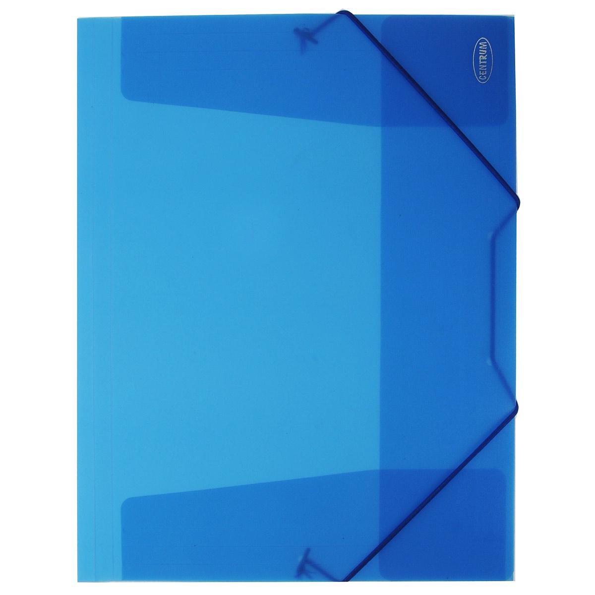 Папка конверт на резинках, цвет: синий. 80016AC-1121RD80016 Папка на резинках 240х320 мм. А4. 80016, цвет: синий