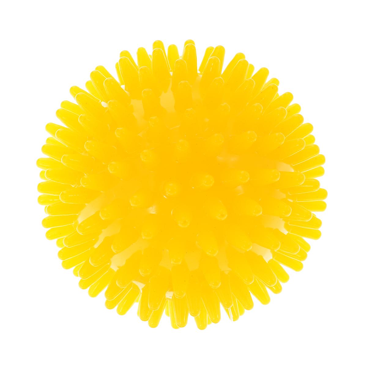 Игрушка для собак V.I.Pet Массажный мяч, цвет: желтый, диаметр 6 см600YEXИгрушка для собак V.I.Pet Массажный мяч, изготовленная из ПВХ, предназначена для массажа и самомассажа рефлексогенных зон. Она имеет мягкие закругленные массажные шипы, эффективно массирующие и не травмирующие кожу. Игрушка не позволит скучать вашему питомцу ни дома, ни на улице.Диаметр: 6 см.