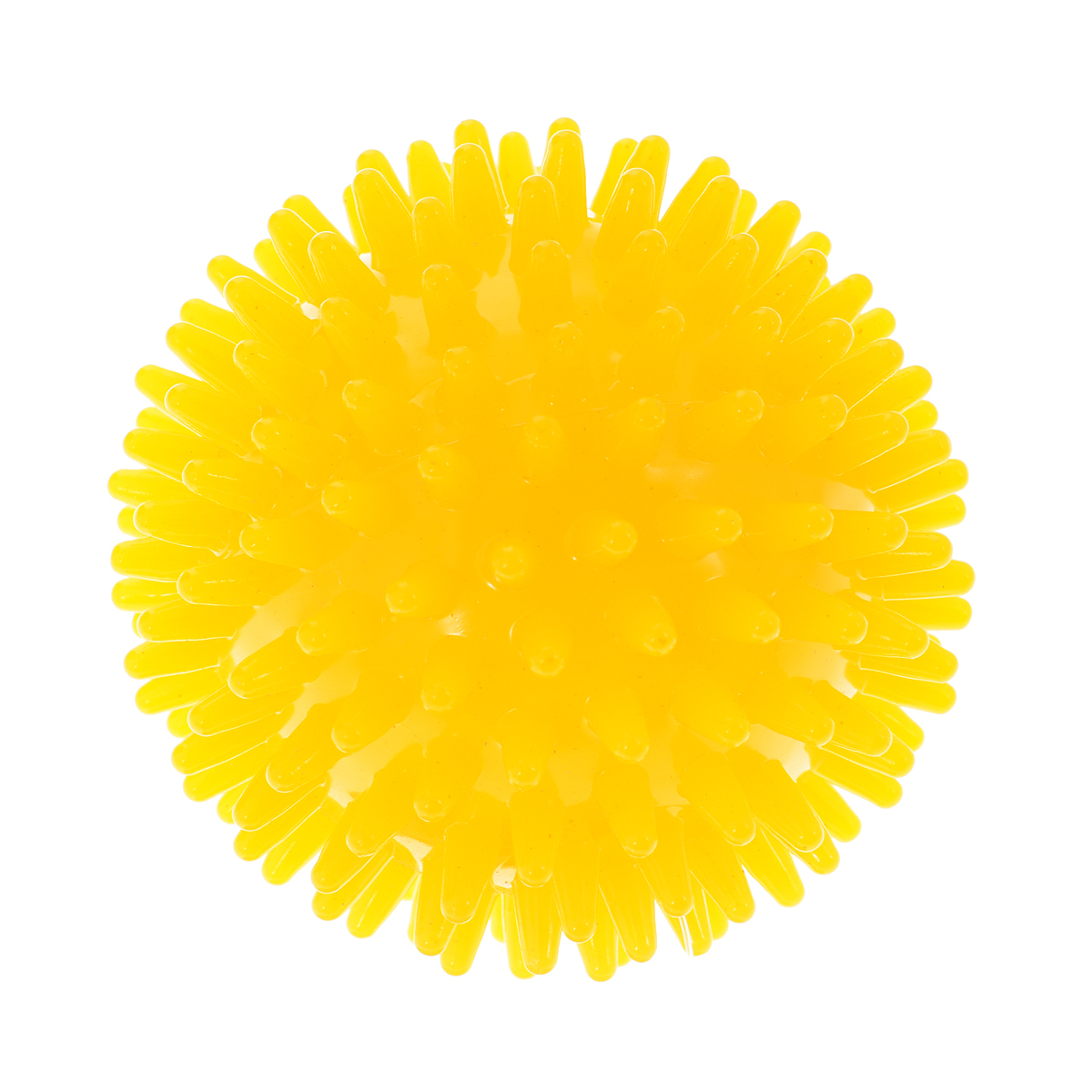 Игрушка для собак V.I.Pet Массажный мяч, цвет: желтый, диаметр 10 смBL11-015-100Игрушка для собак V.I.Pet Массажный мяч, изготовленная из ПВХ, предназначена для массажа и самомассажа рефлексогенных зон. Она имеет мягкие закругленные массажные шипы, эффективно массирующие и не травмирующие кожу. Игрушка не позволит скучать вашему питомцу ни дома, ни на улице.Диаметр: 10 см.