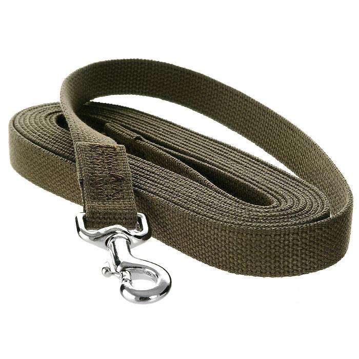 Поводок брезентовый V.I.Pet для собак до 200 кг, 5 м поводок для собак collar soft цвет коричневый диаметр 6 мм длина 1 83 м