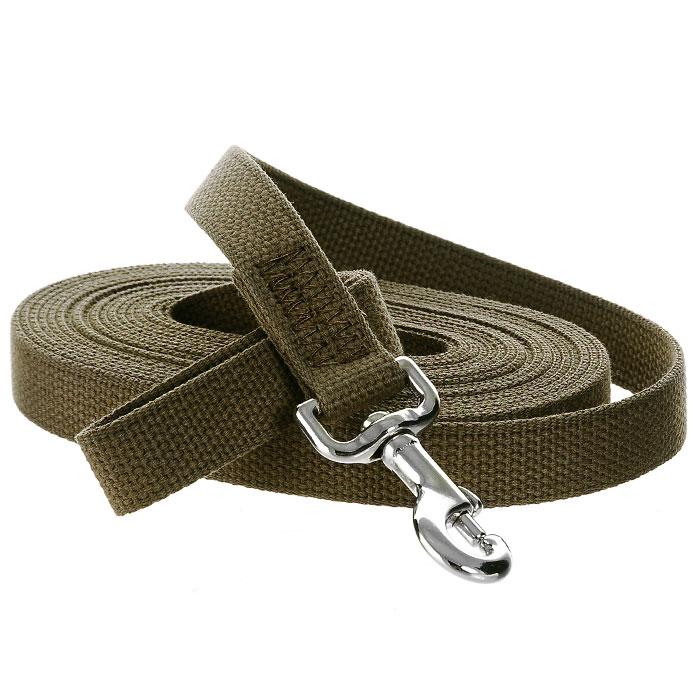 Поводок брезентовый V.I.Pet для собак до 200 кг, 7 м поводок для собак collar soft цвет коричневый диаметр 6 мм длина 1 83 м