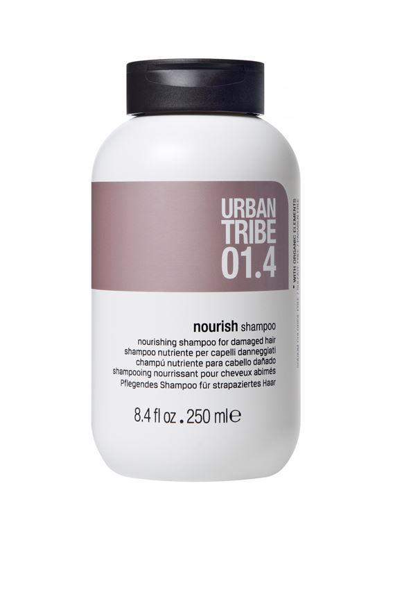 URBAN TRIBE Питательный шампунь для поврежденных волос 250 мл.FS-00897Питательный шампунь для поврежденных волос. Специальные активные ингредиенты в составе инновационной нежной формулы мягко очищают и увлажняют волосы, питая их и укрепляя. Волосы более густые, послушные и полные жизненных сил.