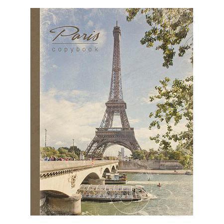 Тетрадь на кольцах 120л А5ф Париж в индив.упак.730396Тетрадь с обложкой из картона, защищающей бумагу от деформации.