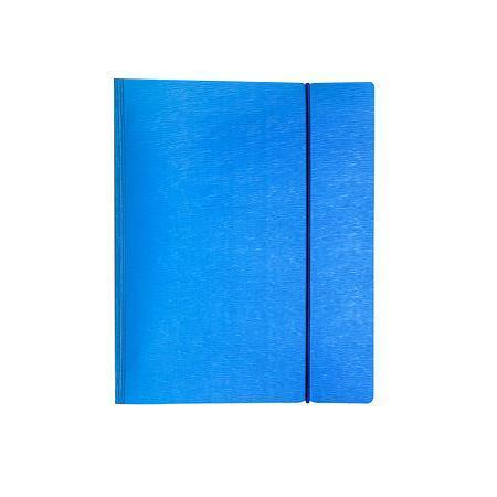 Тетрадь 120л А5ф на 4 х кольцах Пластиковая обложка на резинке WOOD Голубая120ТК5Bр1_02225