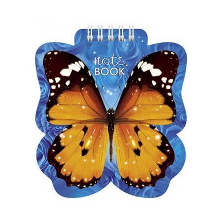 Блокнот 60л А6ф 80 гр/кв.м с фигурной высечкой на гребне Бабочка72523WDБлокнот с обложкой из картона, защищающей бумагу от деформации.