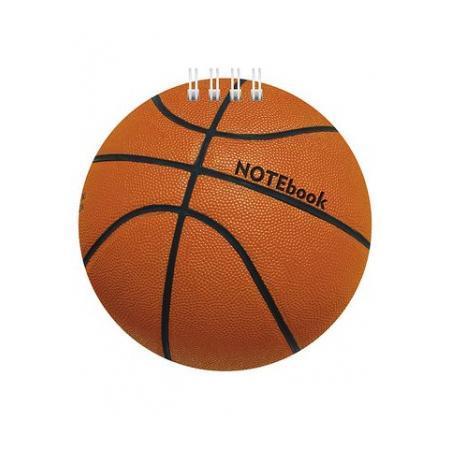 Блокнот 60л А6ф 80 гр/кв.м с фигурной высечкой на гребне Баскетбол72523WDБлокнот с обложкой из картона, защищающей бумагу от деформации.