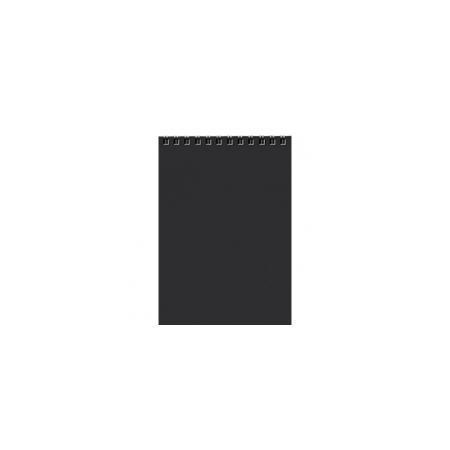 Блокнот 80л А5ф Пластиковая обложка на гребне DIAMOND Черный96ББ5B_12788Блокнот с обложкой из картона, защищающей бумагу от деформации.