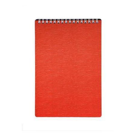 Блокнот 80л А5ф Пластиковая обложка на гребне DIAMOND НЕОН оранжевый72523WDБлокнот с обложкой из картона, защищающей бумагу от деформации.