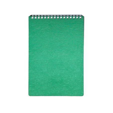 Блокнот 80л А5ф Пластиковая обложка на гребне WOOD Зеленый80ББ5Bр1_10378Блокнот с обложкой из картона, защищающей бумагу от деформации.
