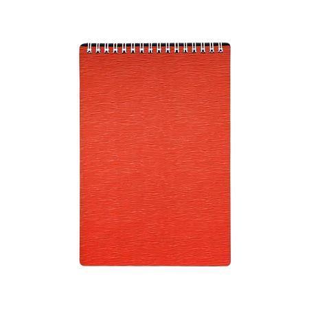 Блокнот 80л А5ф Пластиковая обложка на гребне WOOD Красный72523WDБлокнот с обложкой из картона, защищающей бумагу от деформации.