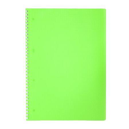 Тетрадь 80л А4ф Пластиковая обложка на гребне DIAMOND НЕОН зеленая80Т4B1гр_02034