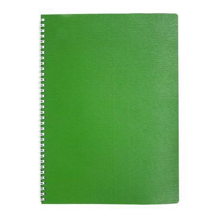 Тетрадь 80л А4ф Пластиковая обложка на гребне WOOD Зеленая80Т4B1гр_02207