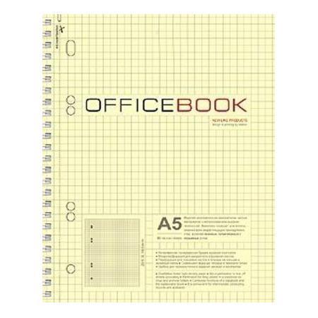 Тетрадь 80л А5ф тониров.блок на гребне выб Уф лак Office Book72523WDТетрадь с обложкой из картона, защищающей бумагу от деформации.