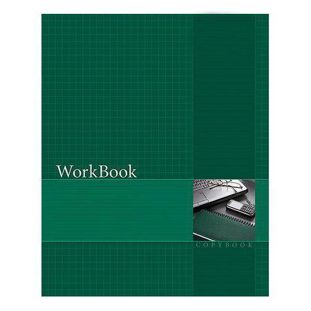 Тетрадь 96л А5ф клетка сшито клеен. тиснение WorkBook Зеленая72523WDТетрадь с обложкой из картона, защищающей бумагу от деформации.