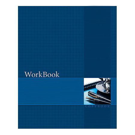 Тетрадь 96л А5ф клетка сшито клеен. тиснение WorkBook Синяя72523WDТетрадь с обложкой из картона, защищающей бумагу от деформации.