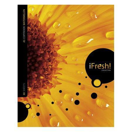 Тетрадь 80л А5ф на гребне серия iFRESH72523WDТетрадь с обложкой из картона, защищающей бумагу от деформации.