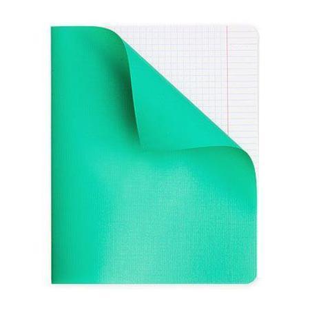 Тетрадь для записи 96л А5ф клетка на скобе в Полимерной обложке Зеленая96Т5пмB1