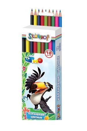 Карандаши цветные, 18цв., RIO, шестигранные, карт.европодвес арт.134189-18 ед.изм.набор120057Шестигранный корпус из натурального дерева. Многослойная прокраска корпуса. Яркие насыщенные цвета. Поставляются в картонной коробке с европодвесом. Карандаши от производителя Silwerhof станут хорошим подарком для маленьких начинающих художников.