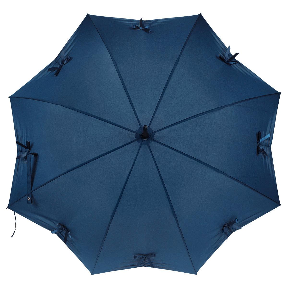 Зонт-трость женский Fulton Kensington-1. Star, механический, цвет: морской волны. L776-276945100032/35449/3537AМодный механический зонт-трость Kensington-1. Star. Каркас зонта состоит из 8 спиц, фибергласса и деревянного стержня. Купол зонта выполнен из прочного полиэстера и украшен аппликацией в виде бантиков. Изделие оснащено удобной рукояткой из пластика.Зонт механического сложения: купол открывается и закрывается вручную до характерного щелчка.Модель закрывается при помощи двух ремней с кнопками. Зонт-трость даже в ненастную погоду позволит вам оставаться стильной и элегантной. Такой зонт не только надежно защитит вас от дождя, но и станет стильным аксессуаром, который идеально подчеркнет ваш неповторимый образ.
