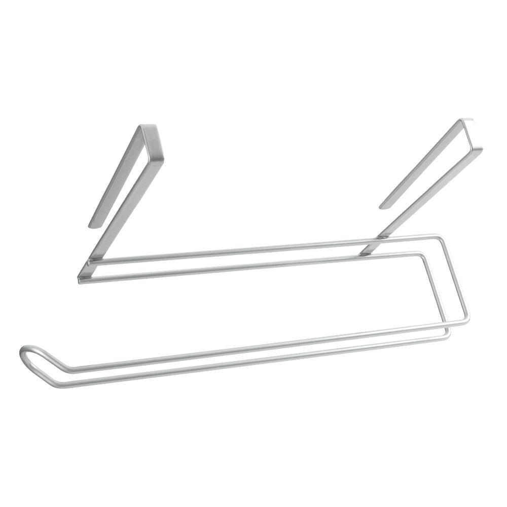 Держатель для бумажного полотенца Metaltex, цвет: серебристый, 35 х 18 х 10 см36.49.35/94Подвесной кухонный держатель Metaltex предназначен для храненияи удобного использования бумажных полотенец. Он выполнен из высококачественной стали со специальным политермическим покрытием серебристого цвета Polyterm, которое не повредит вашу мебель. Благодаря компактным размерам держатель для бумажного полотенца впишется в интерьер вашей кухни. Вы можете закрепить его на внутренней или внешней части фасада шкафчика кухонной мебели или на полке подвесного шкафа вашей кухни, не прибегая к сверлению или приклеиванию.