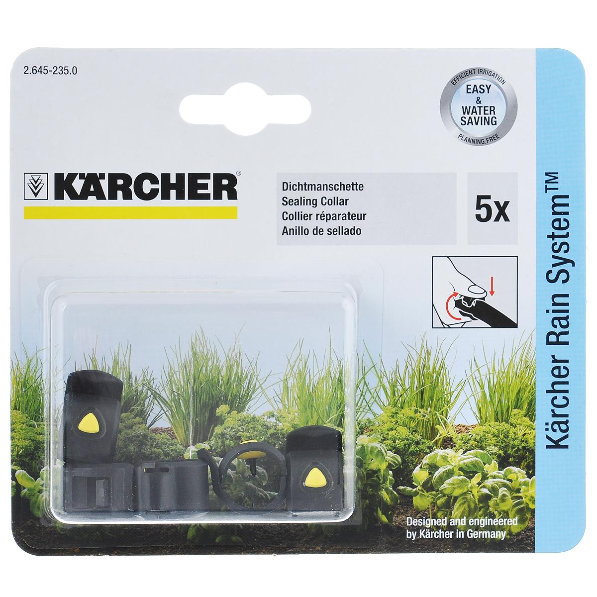 Герметизирующий хомут Karcher 5 шт 2.645-235.02.645-235.0Специальный хомут предназначен для герметизации неиспользуемых отверстий в системном шланге, пробитых для установки капельниц или разбрызгивателей. В комплекте 5 хомутов.
