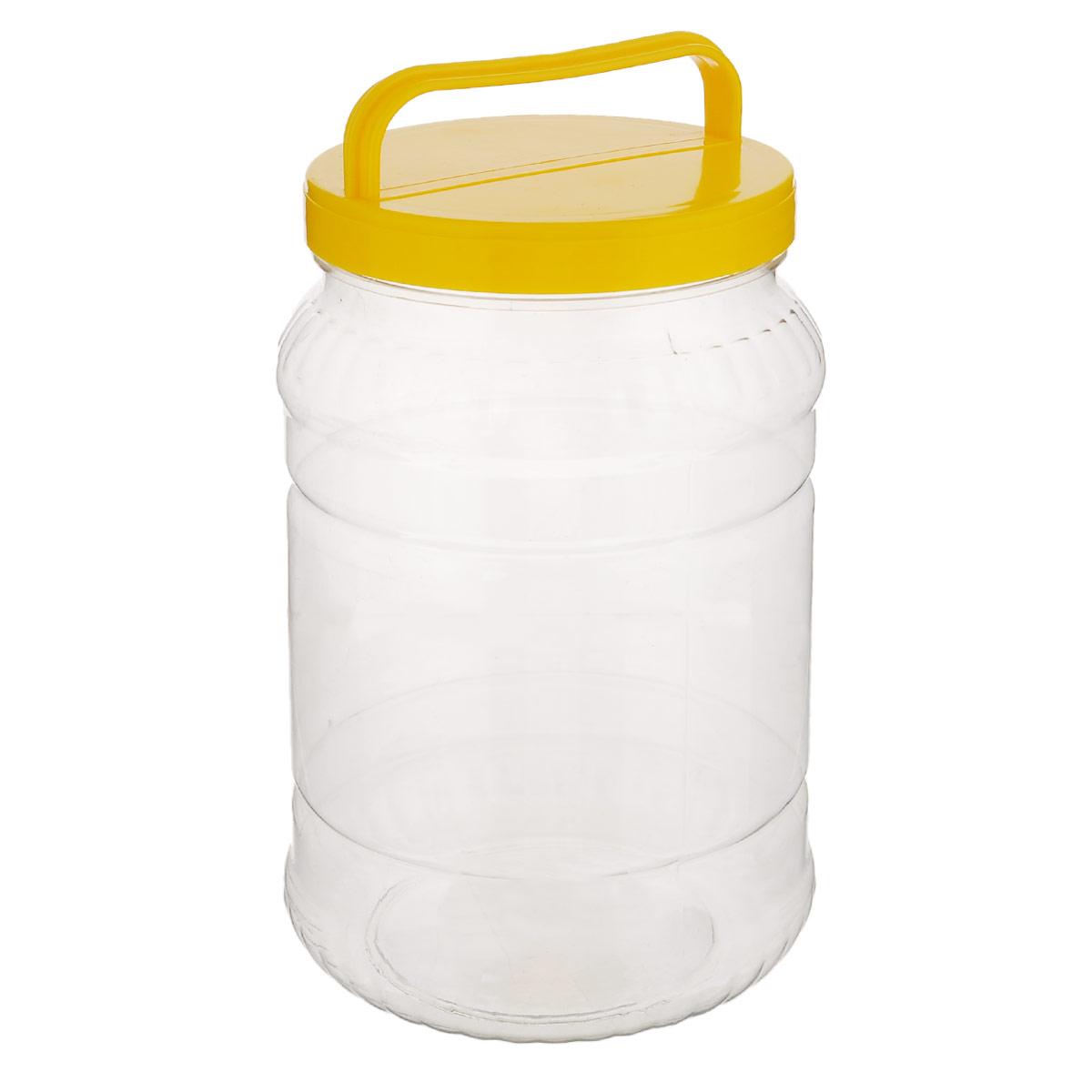 Бидон Альтернатива, цвет: прозрачный, желтый, 2 лД Дачно-Деревенский 16ТБидон Альтернатива предназначен для хранения и переноски пищевых продуктов, таких как молоко, вода и прочее. Выполнен из пищевого высококачественного пластика. Оснащен ручкой для удобной переноски.Бидон Альтернатива станет незаменимым аксессуаром на вашей кухне.Высота бидона (без учета крышки): 20,5 см.Диаметр: 10,5 см.
