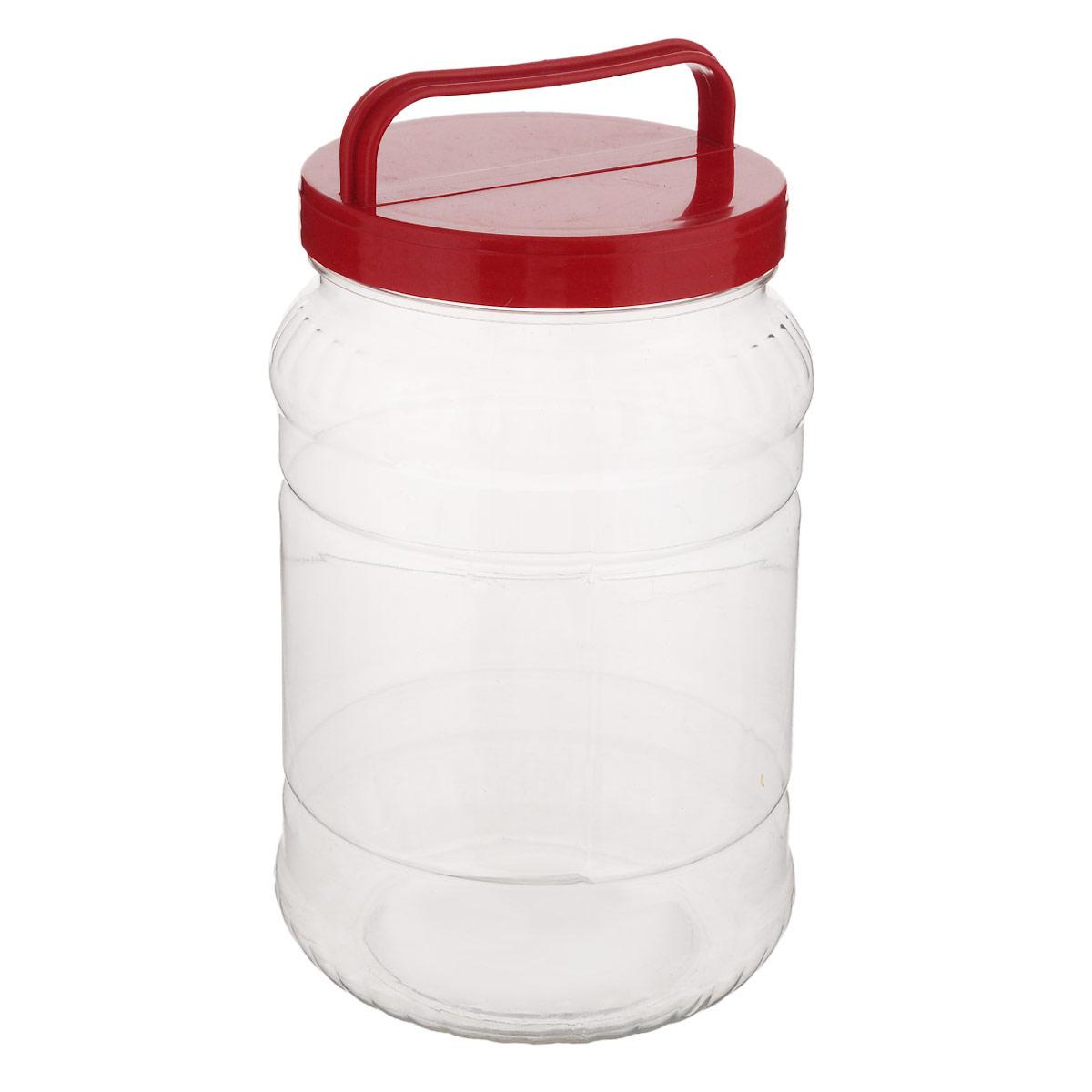 Бидон Альтернатива, цвет: прозрачный, красный, 2 л21395597Бидон Альтернатива предназначен для хранения и переноски пищевых продуктов, таких как молоко, вода и прочее. Выполнен из пищевого высококачественного пластика. Оснащен ручкой для удобной переноски.Бидон Альтернатива станет незаменимым аксессуаром на вашей кухне.Высота бидона (без учета крышки): 20,5 см.Диаметр: 10,5 см.