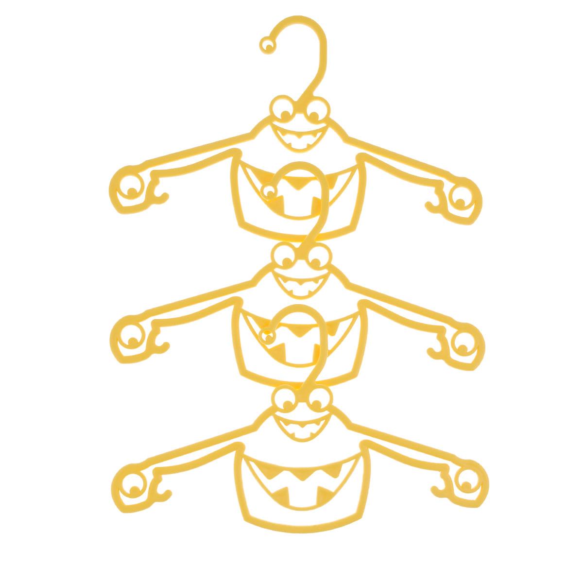 Набор вешалок Пластишка, с крючками, цвет: желтый, 3 штС13024Набор Пластишка, изготовленный из прочного полипропилена, состоит из 3 детских вешалок для одежды с закругленными плечиками. Изделия оснащены крючками. Вешалка - это незаменимая вещь для того, чтобы ваша одежда всегда оставалась в хорошем состоянии.Комплектация: 3 шт.